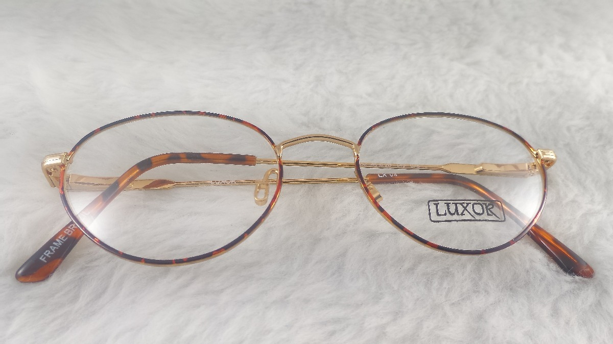 03c405139 óculos grau #vintage #leve metal credencial luxor 623ov. Carregando zoom.