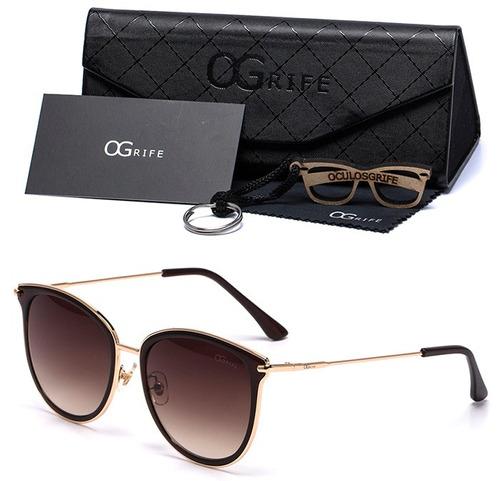 oculos grife solar feminino og 492-c proteção uv original