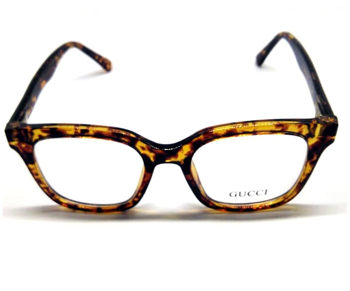 2698d49aff4b7 óculos gucci armação feminina para graus acetato oncinha. Carregando zoom.