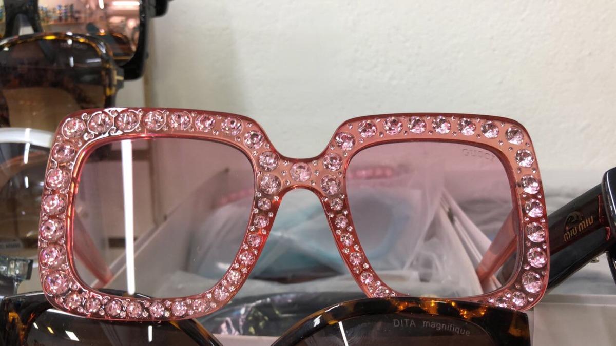 1d158c9ce Óculos Gucci - Com Strass - R$ 99,00 em Mercado Livre