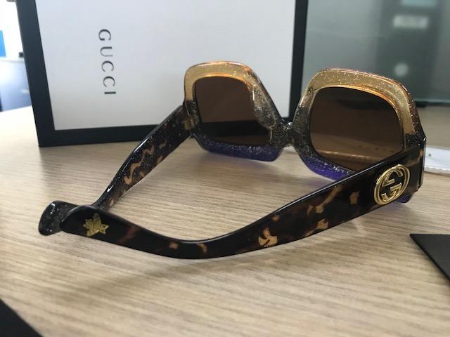 2e8522a425a58 Óculos Gucci Gg0083s Grafite Tricolor - R  550,00 em Mercado Livre