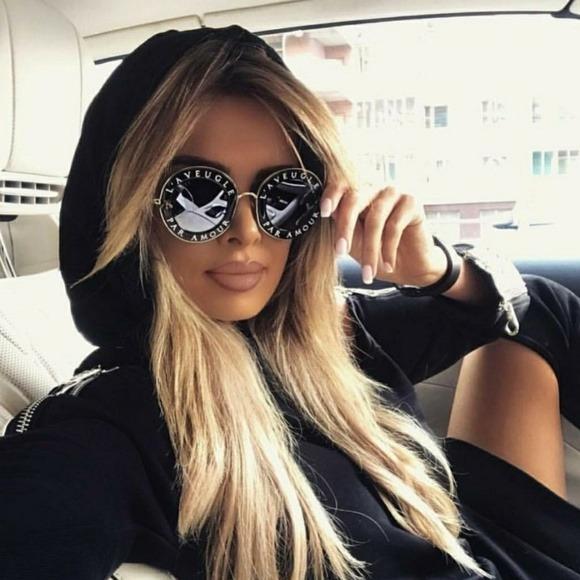 335811fb0eb04 Óculos Gucci Laveugle Preto Estojo E Certi Ori Novo Original - R ...
