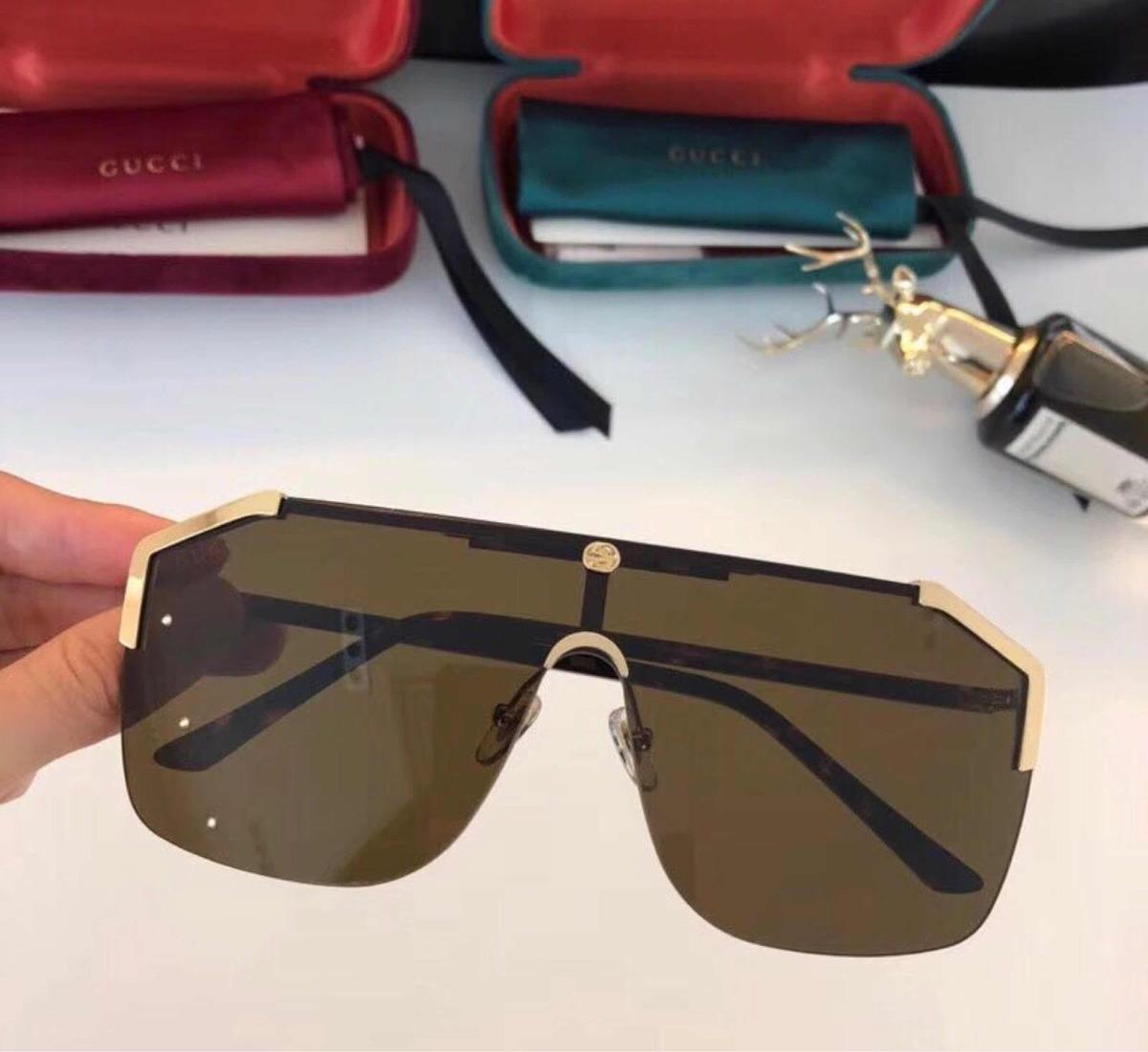 ed7e1372f8724 óculos gucci máscara marron novo original. Carregando zoom.