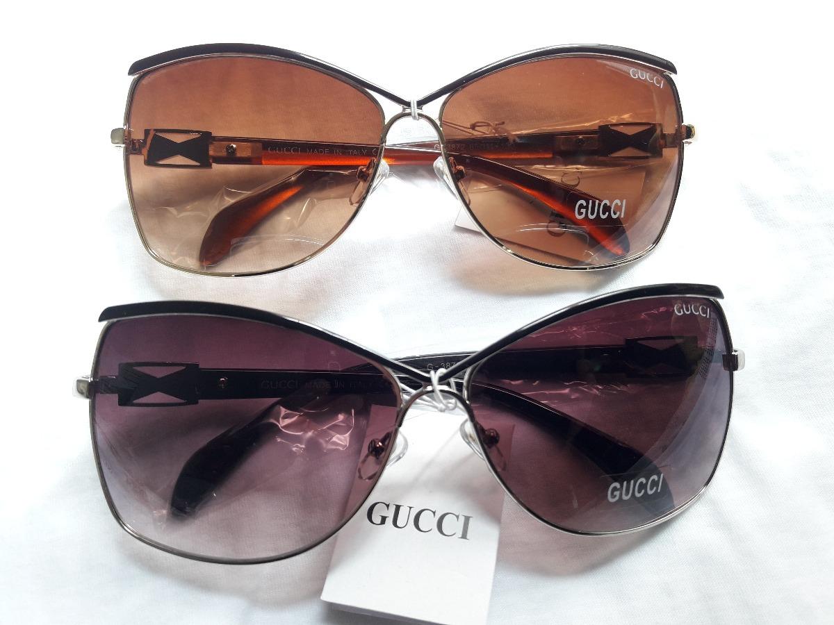 82baa52fe0a4e Oculos Gucci Original Preto Marron Degradê + Brinde - R  99,00 em ...