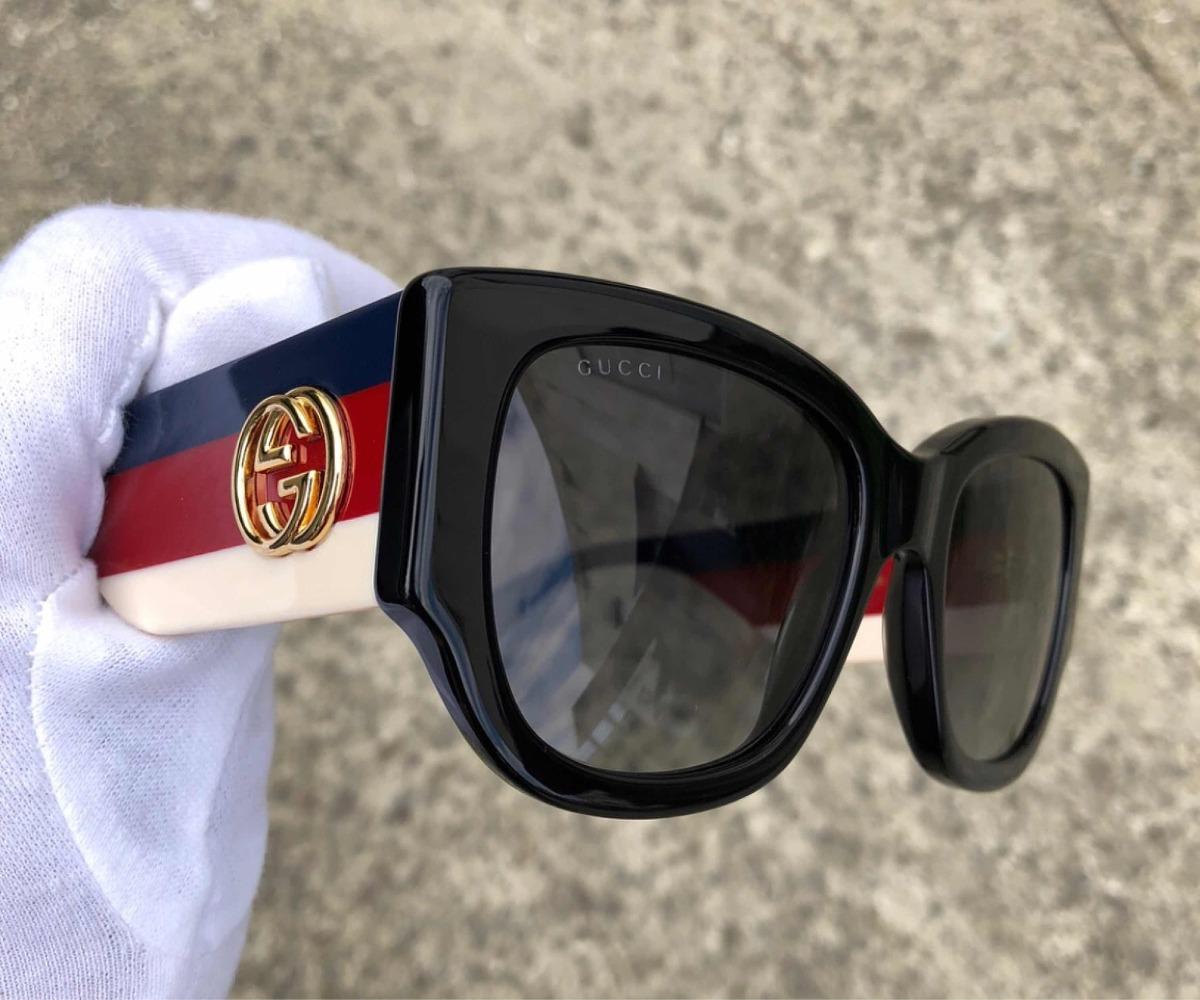771b58dbd Óculos Gucci Preto Com Estojo Veludo Novo Original - R$ 1.318,90 em ...