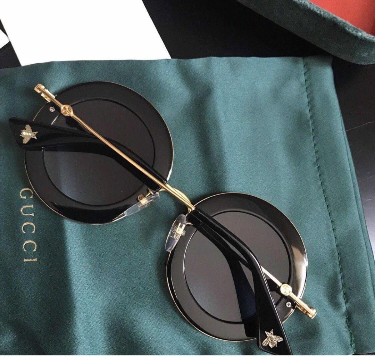 6bd59c6dccb11 Óculos Gucci Preto L Aveugle Novo Original - R  1.199,00 em Mercado ...