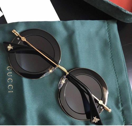 7467c78a7 Óculos Gucci Preto L Aveugle Original - R$ 850,00 em Mercado Livre