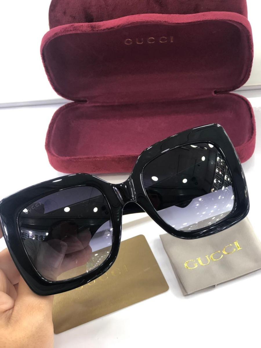 dc2cfdc66 Óculos Gucci Quadrado Tricolor Novo Original - R$ 730,00 em Mercado ...