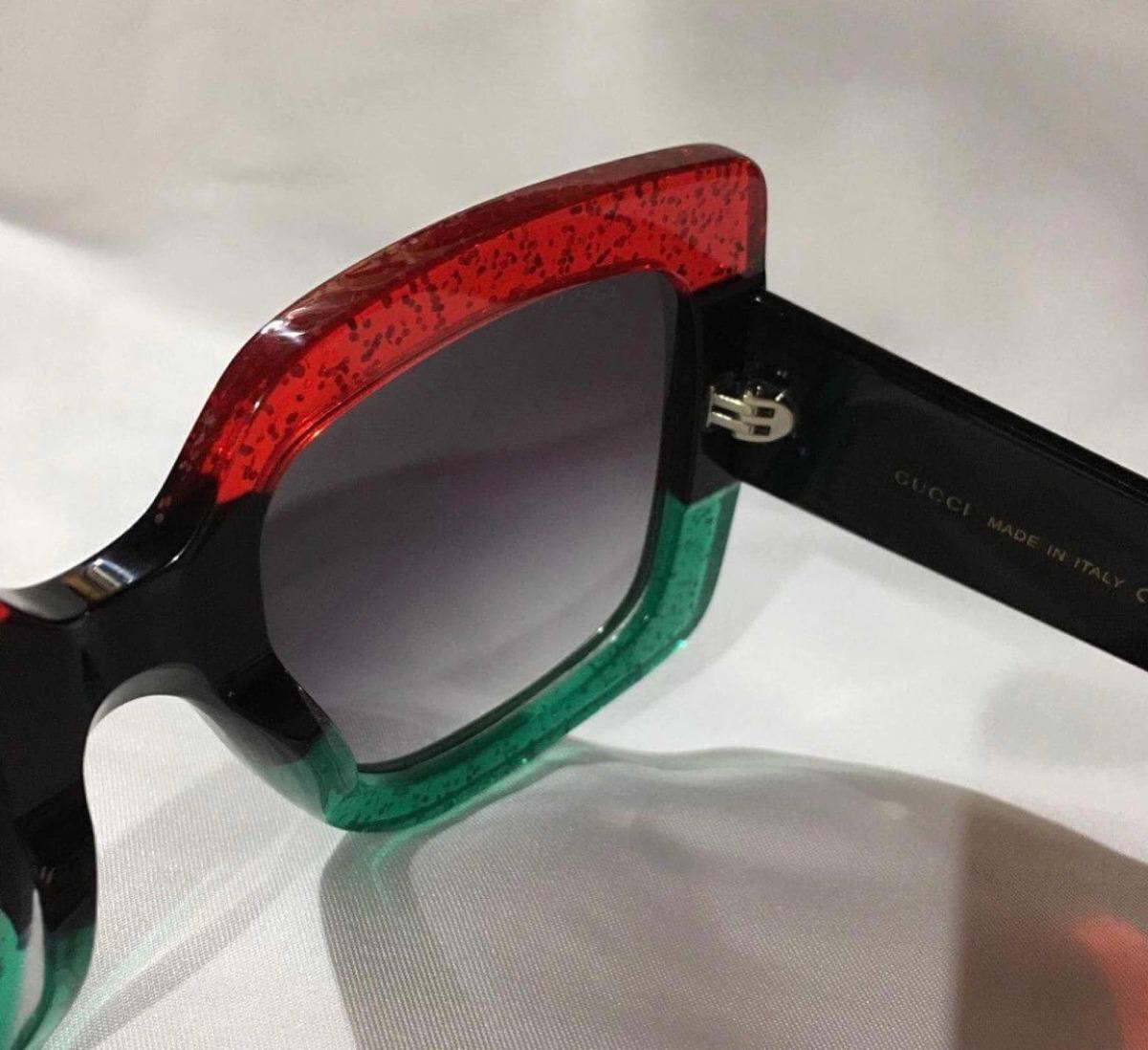43e82d3fb Óculos Gucci Quadrado Tricolor Original - R$ 1.098,90 em Mercado Livre