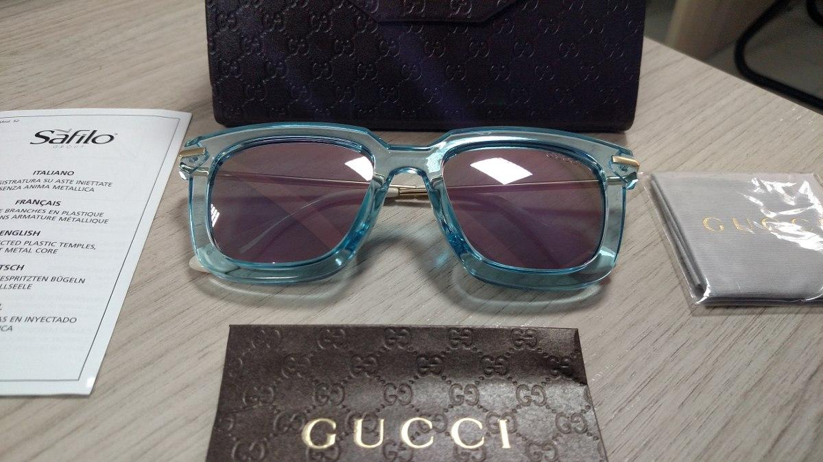 079b51d898c3c Óculos Gucci Retangular Gg1510 Translucido - Original - R  279,90 em ...