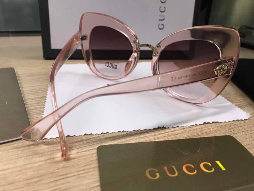 50c0729b1 Óculos Gucci Rose Transparente Gatinho Acetato - R$ 750,00 em ...
