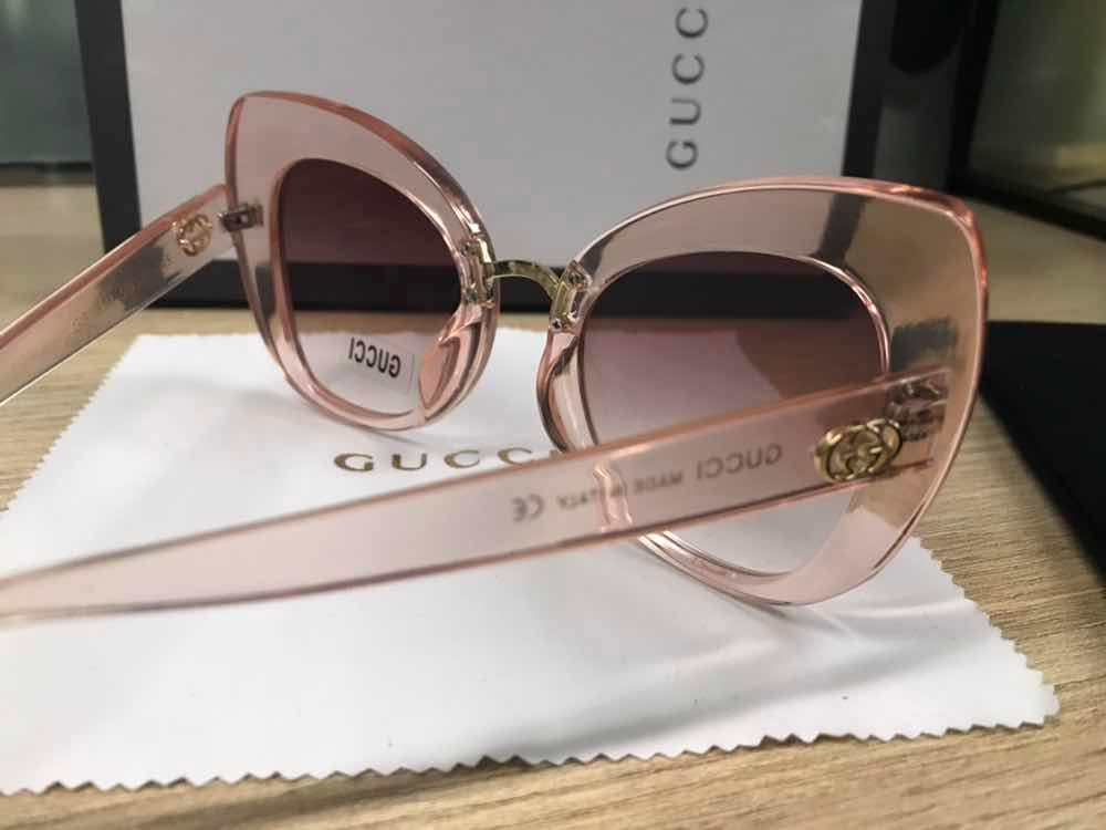 d5bcd1391bd94 óculos gucci rose transparente gatinho acetato. Carregando zoom.