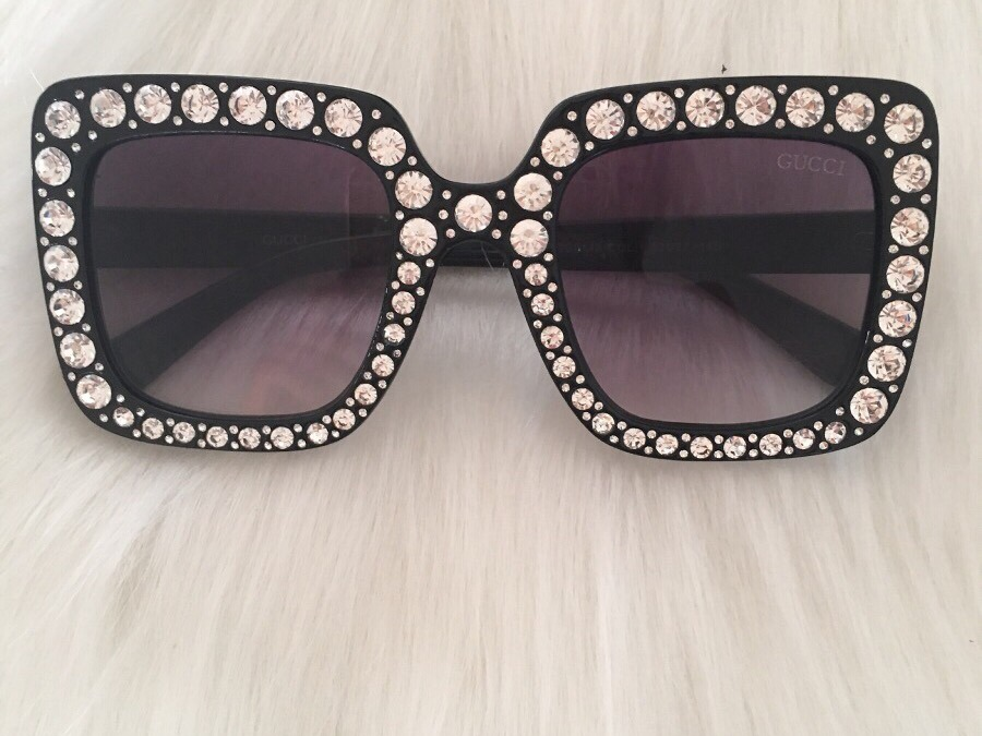 f0afae189 Óculos Gucci - Strass Varias Cores - R$ 89,00 em Mercado Livre