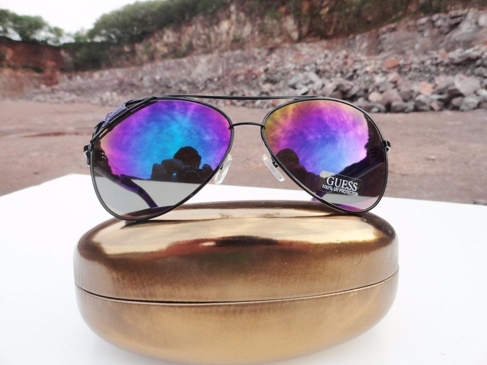 dd2bfb720 oculos guess aviador gu 7151 - gu7151 blk-3f novo original. Carregando zoom.