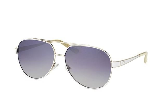 f717a0ac9555d Oculos Guess Aviador Gu7460 24b Branco Espelhado Original - R  359 ...