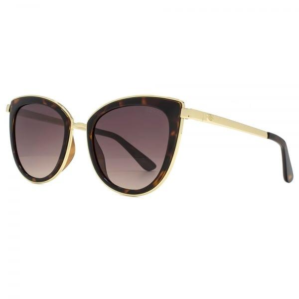 e9a6562aa1550 Oculos Guess Gu7491 52f Marrom   Dourado Original - R  414
