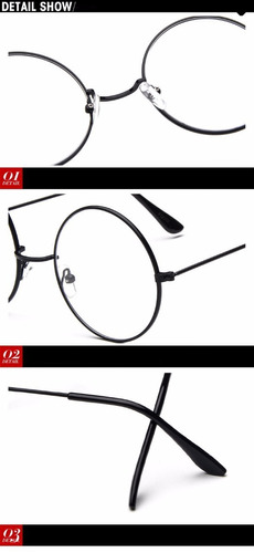óculos harry potter lentes redondas + colares brinde