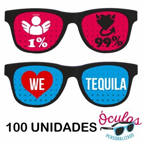 Óculos Hastes E Lentes Personalizado Frete Grátis - 50 Un. - R  480,00 em  Mercado Livre 0aa5c03a0b