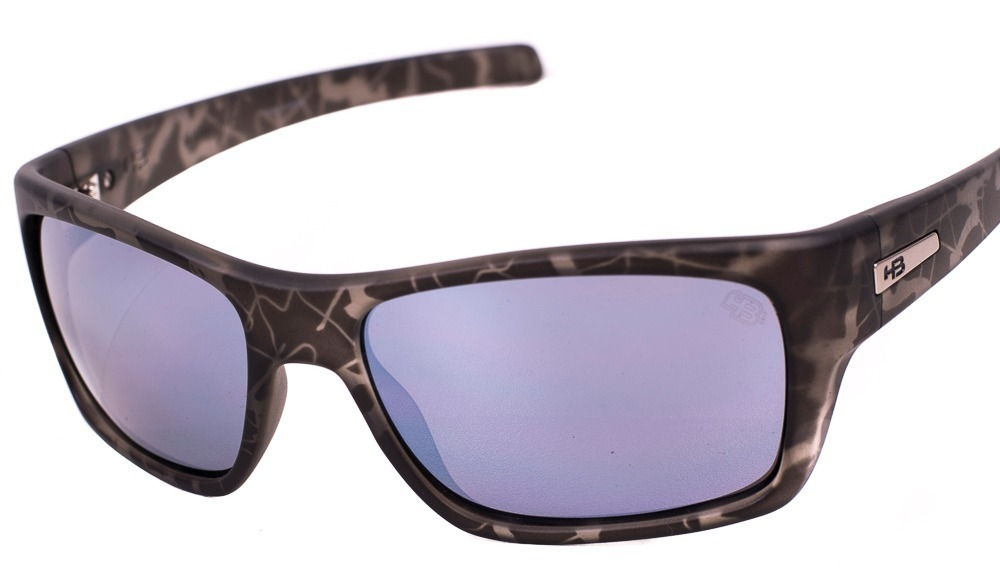 28db3644bec62 Óculos Hb Monster Fish M. Onyx Military Silver Lenses - R  249