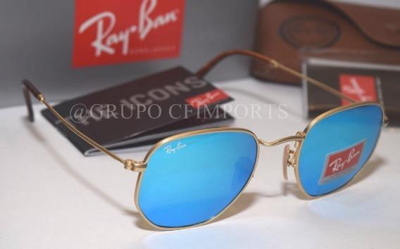 9ba9fcff78474 Óculos Hexa 3548 Azul Espelhado Masculino Feminino Novo - R  95,90 em  Mercado Livre