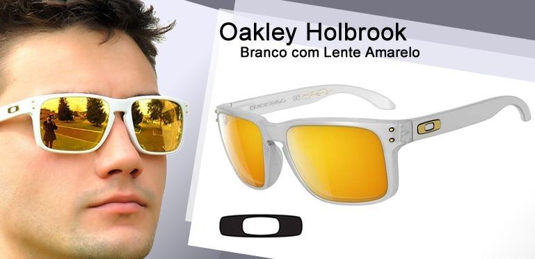 oakley holbrook branco lente 24k
