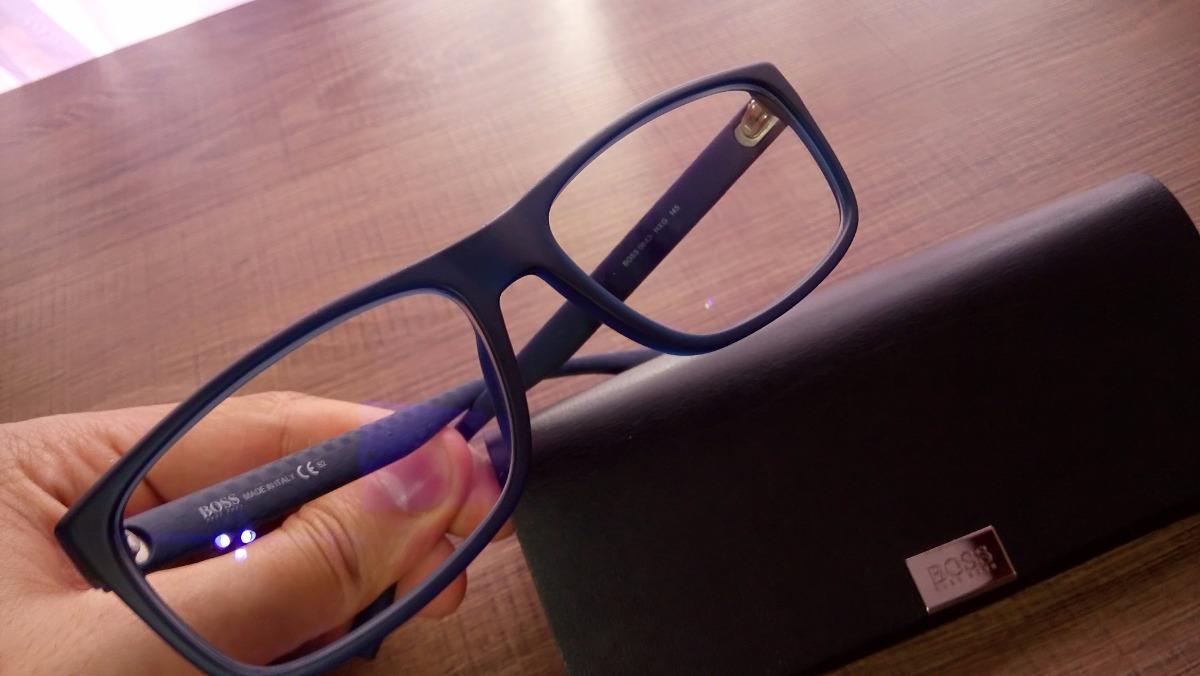 c84a1cd78 óculos hugo boss + lente de proteção azul crizal prevencia. Carregando zoom.