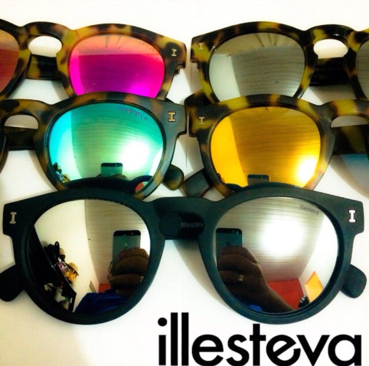 44cac898be313 Óculos Illesteva Leonard Espelhado Varias Cores Frete Grátis - R  69 ...