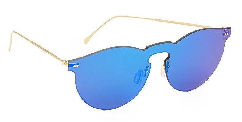 495d62e61e3ea Óculos Illesteva Leonard Mask 2 Dourada Lente Azul Espelhada - R ...