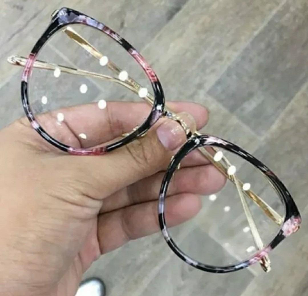 f699275e3d0c3 óculos importado armação dourada transparente luxo gatinho. Carregando zoom.
