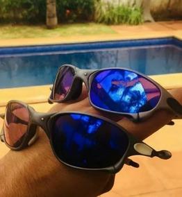 371a6b520 Óculos Importado Espelhado Jacquard Azul Juliet Romeo Barato