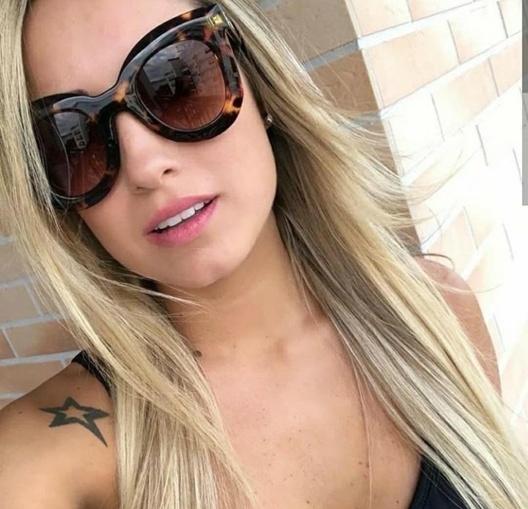 ea968819d08fa óculos importado grande de sol para mulher marrom praia moda. Carregando  zoom.