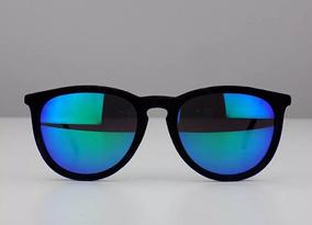 888318bc5 Óculos De Sol Lente Azul Espelhado Aveludado Modinha Luxuoso