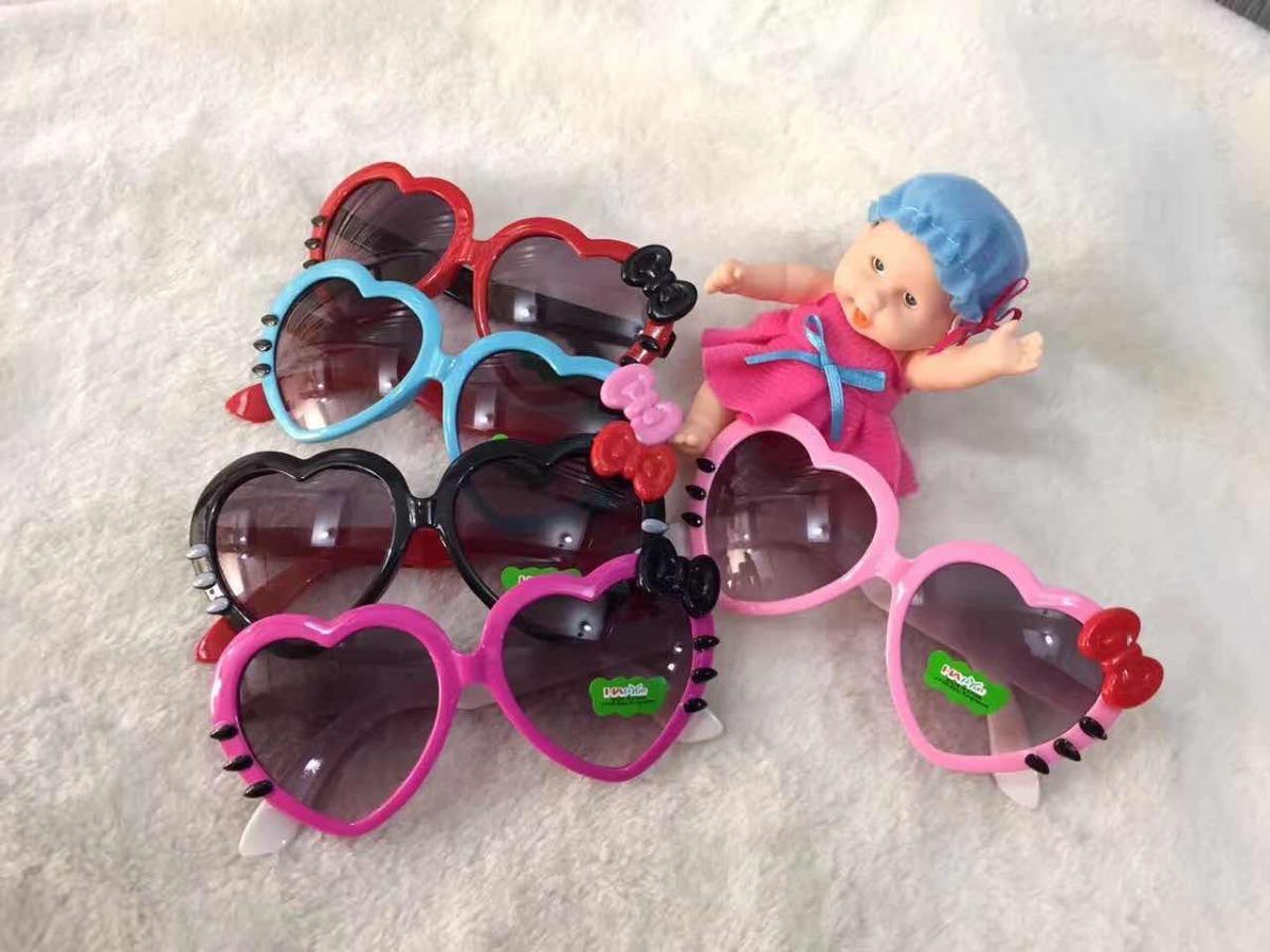 Óculos Infantil Feminino Coração Lacinho Colorido - R  29,90 em ... e221688d8f