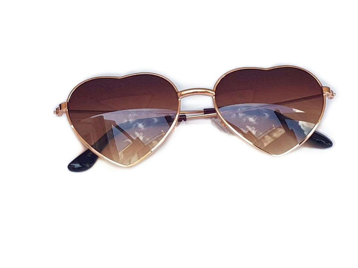 Óculos Infantil Feminino Marrom Transparente Coração - R  30,00 em ... 20f36fdd43