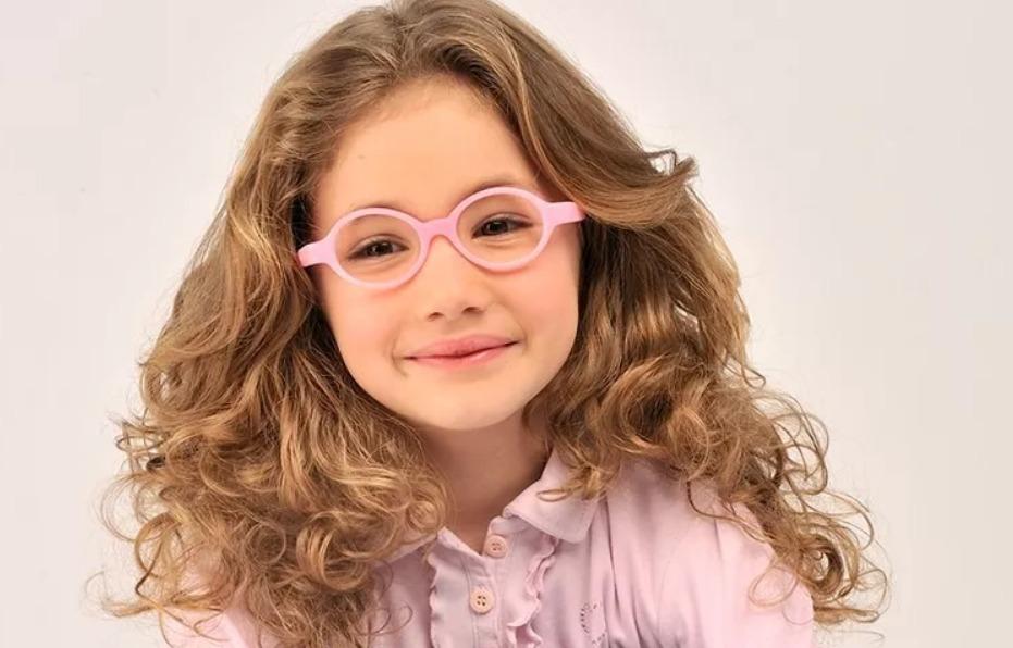 3bd7c4356 óculos infantil miraflex flexível rosa baby lux / 2 a 5 anos. Carregando  zoom.
