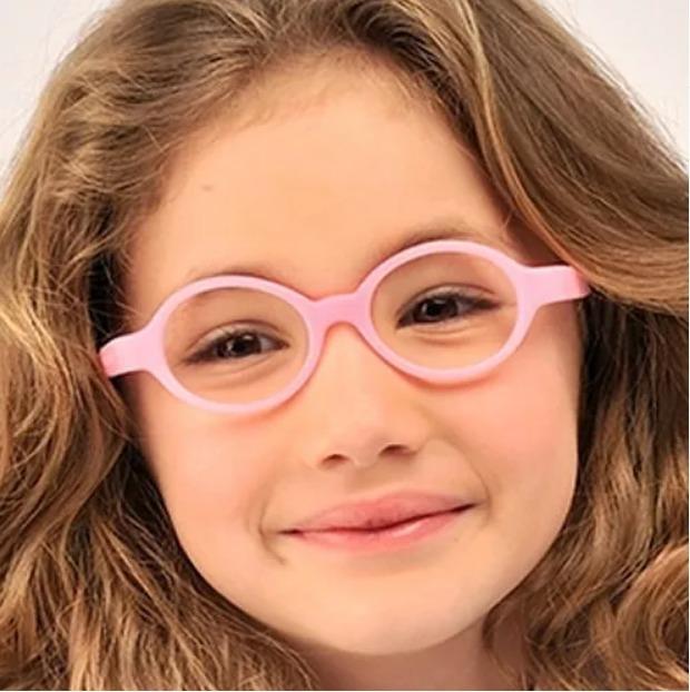 725d13c54 Óculos Infantil Miraflex Flexível Rosa Baby Lux / 2 A 5 Anos - R ...