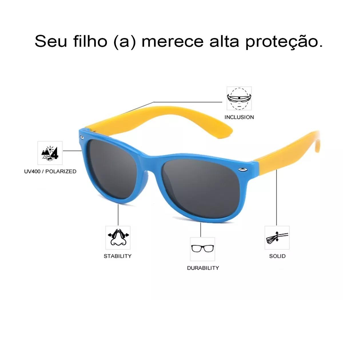 09ec8664d0fda óculos infantil polarizado de sol uv400 flexível + brinde. Carregando zoom.
