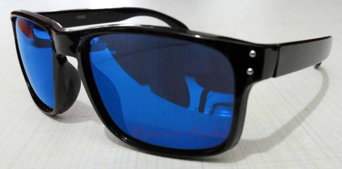 f7f372896 oculos infantil preto estilo holbrook lente azul espelhada. Carregando zoom.