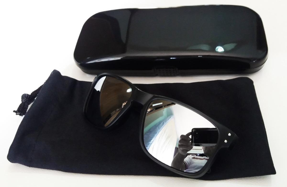 688fb03e0 oculos infantil preto estilo holbrook lente espelhada prata. Carregando zoom .