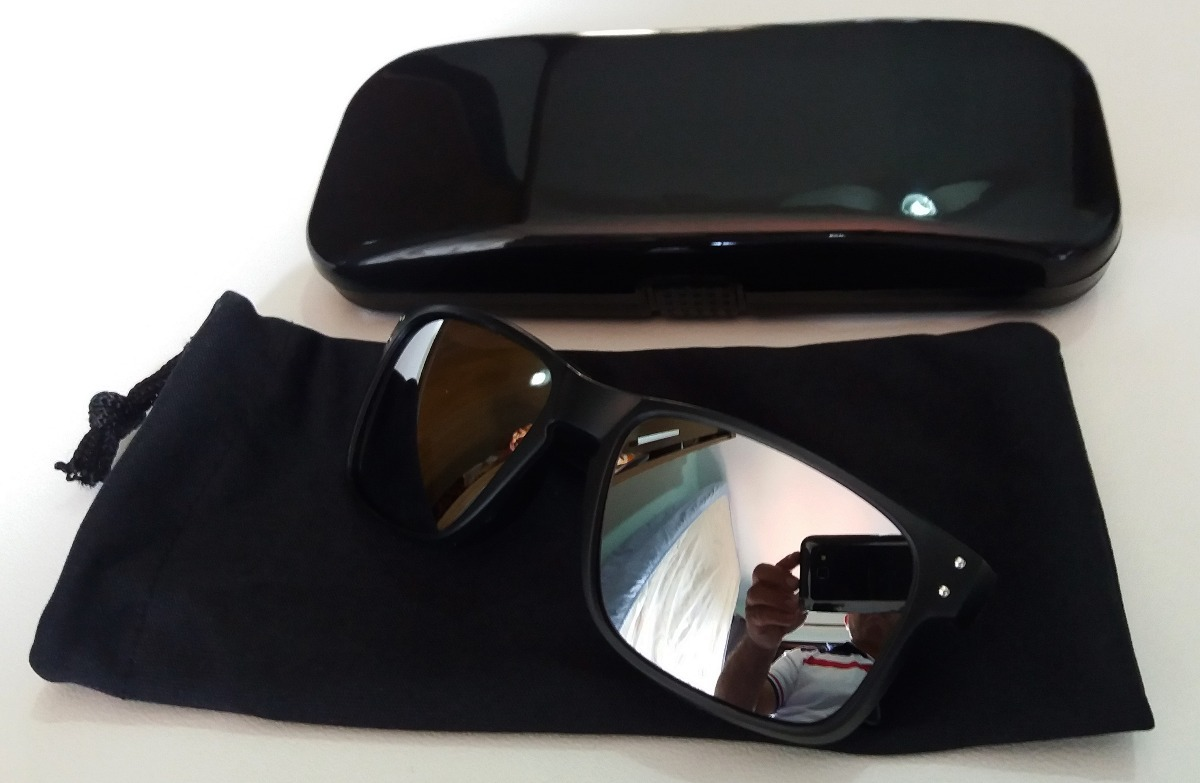 09f808abf87df oculos infantil preto estilo holbrook lente espelhada prata. Carregando  zoom.