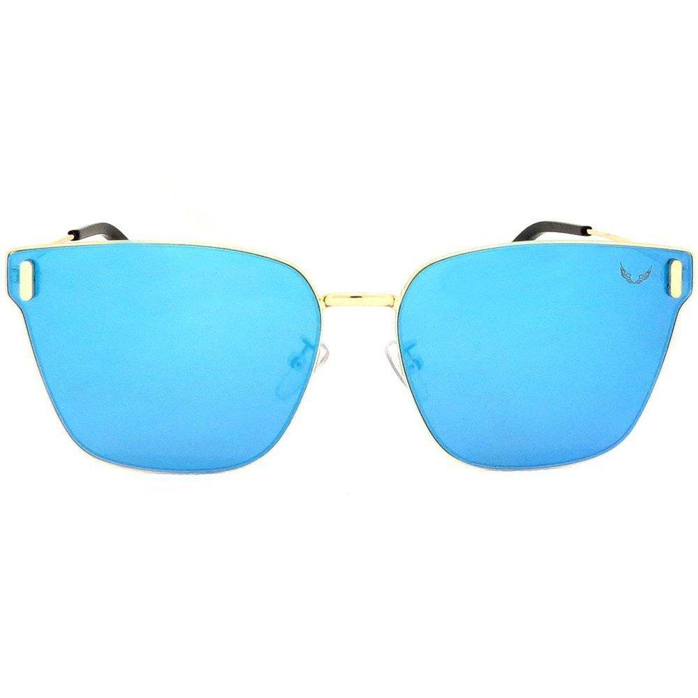 1e89e6d3d20cf óculos italiano siracusa alumínio espelhado azul. Carregando zoom.