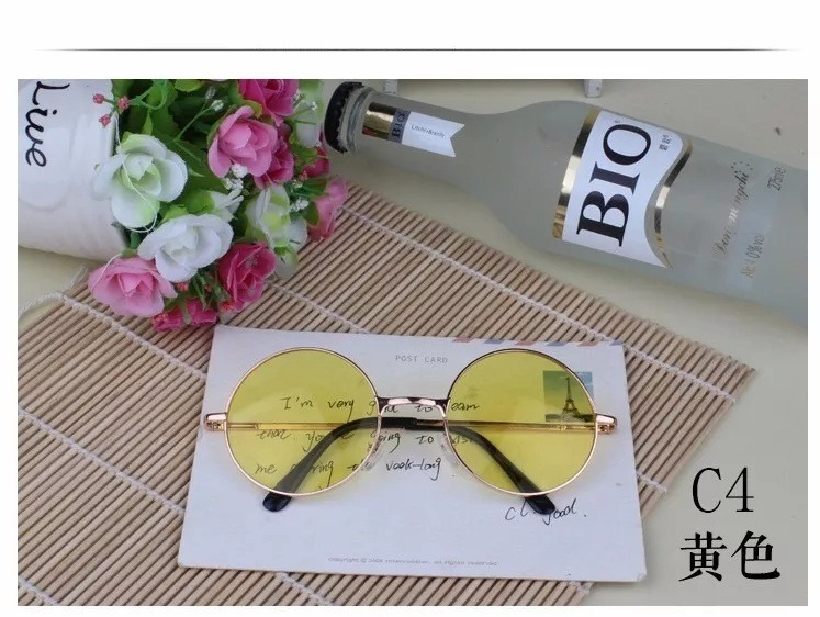 8ed1bdb482377 Óculos John Lennon Lente Amarela Para Dirigir À Noite - R  39