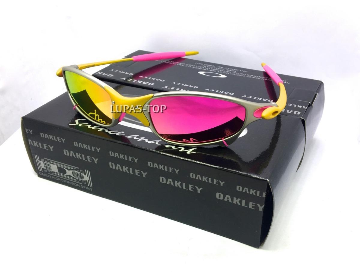 6ddf88d5d Oculos Juliet 24k X Metal Lente Rosa Pink Brilho Reto - R$ 159,00 em ...