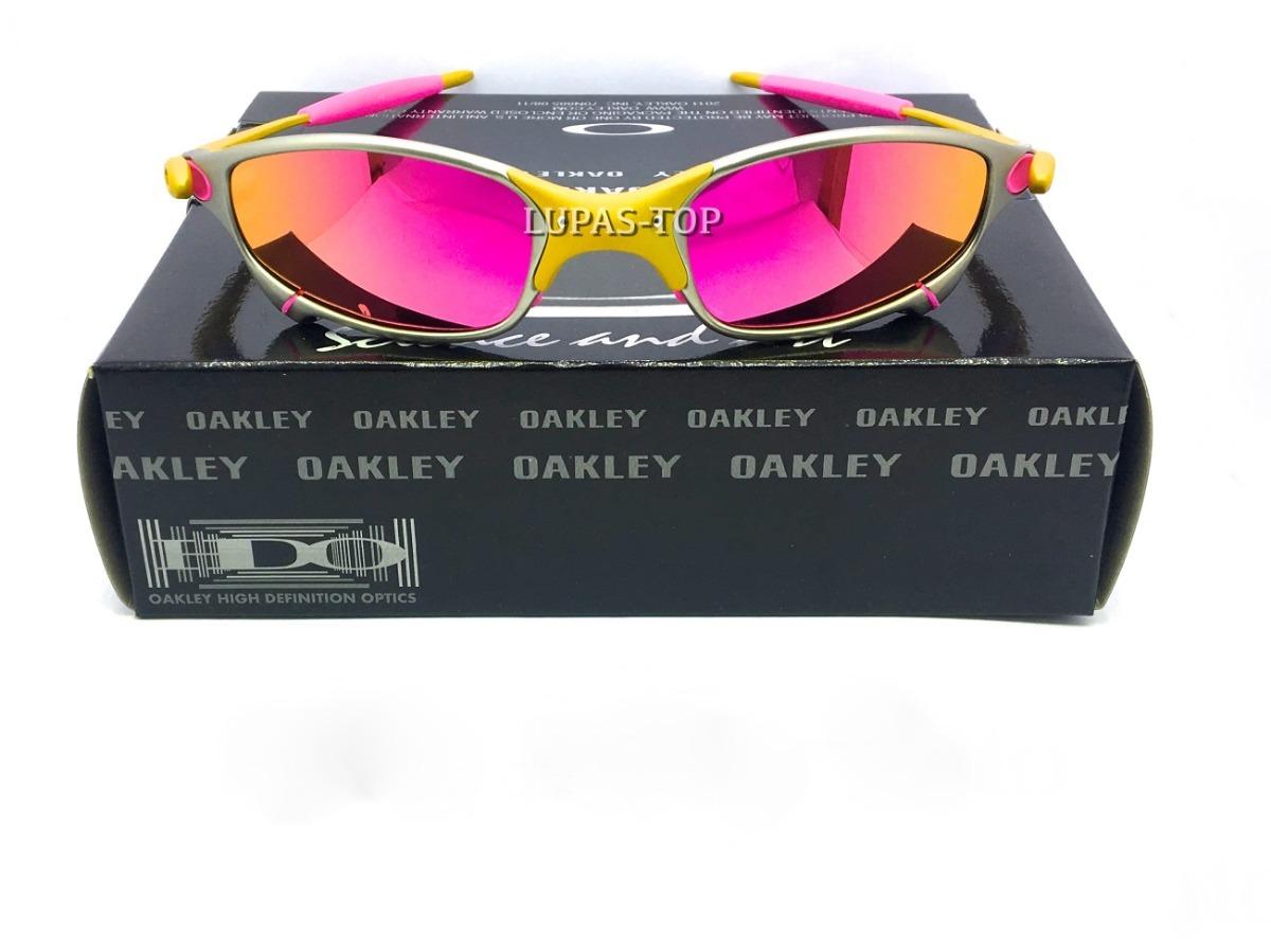 1b36c429b oculos juliet 24k x metal lentes rosas brilho reto polarizad. Carregando  zoom.