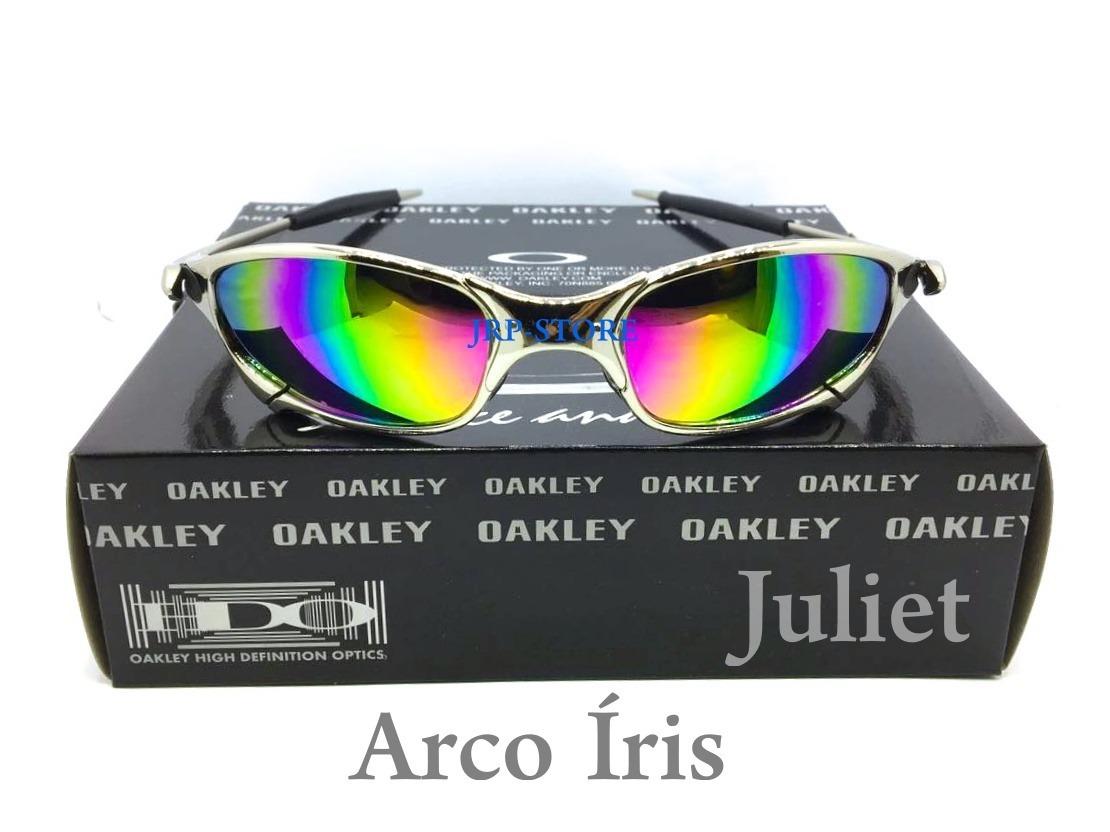 oculos juliet cromada x metal lente arco iris double x 24k. Carregando zoom. 972403b90af