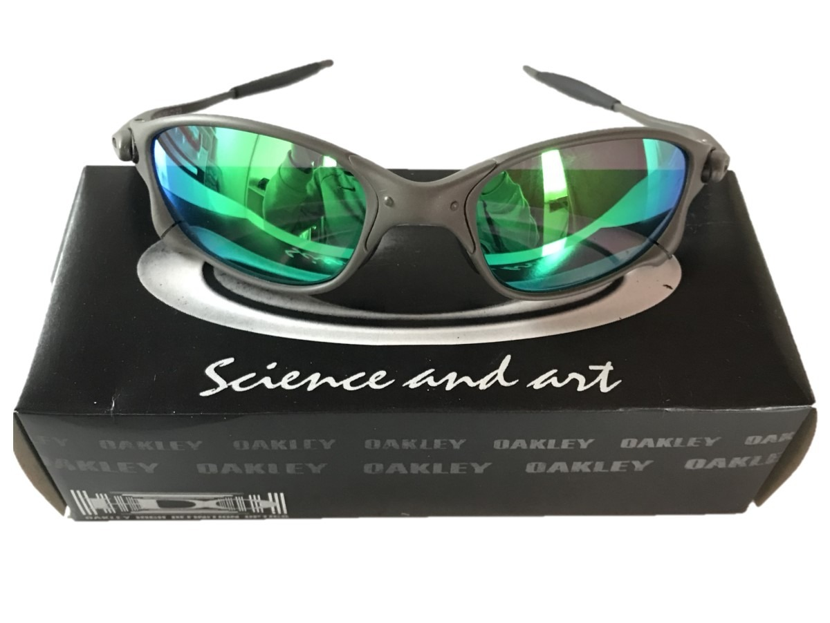 6cc21c0d5d055 Óculos Juliet Double X Metal Lentes Verde Polarizada - R  120,00 em ...