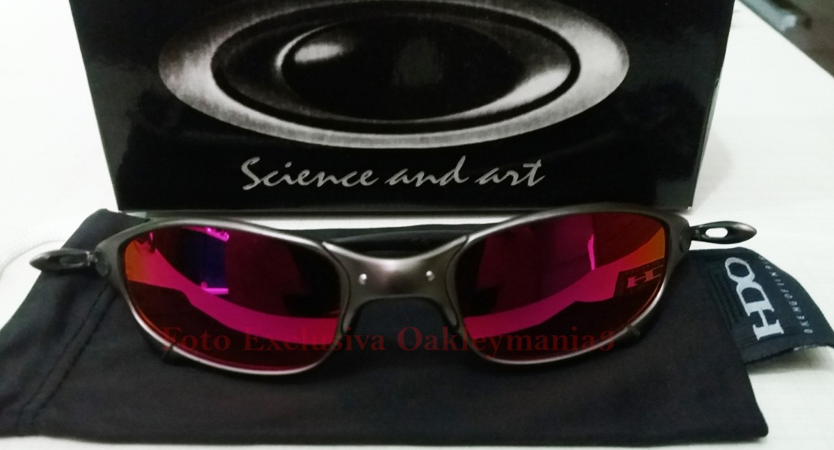 df65e008a23eb oculos juliet grafite black lente dark ruby polarizada. Carregando zoom.