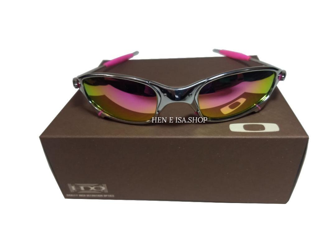 30ceb4970436c Oculos Juliet Platinum Rosa +borracha+lentes +teste+chave - R  120 ...