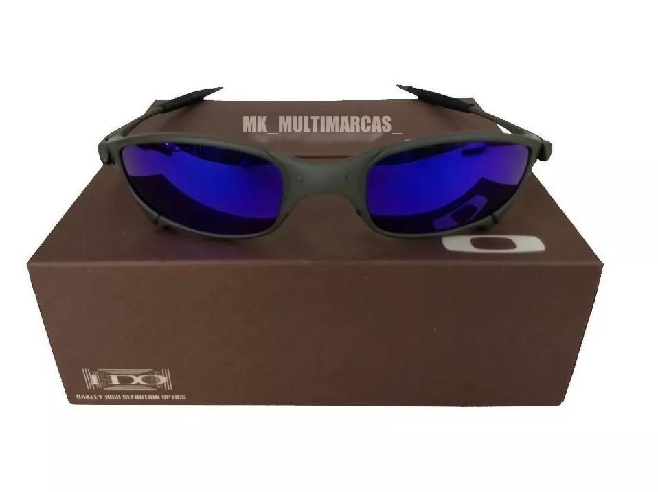 9742fbc9e Oculos Juliet X-metal Azul + Certificado + Teste 12x - R$ 93,45 em ...