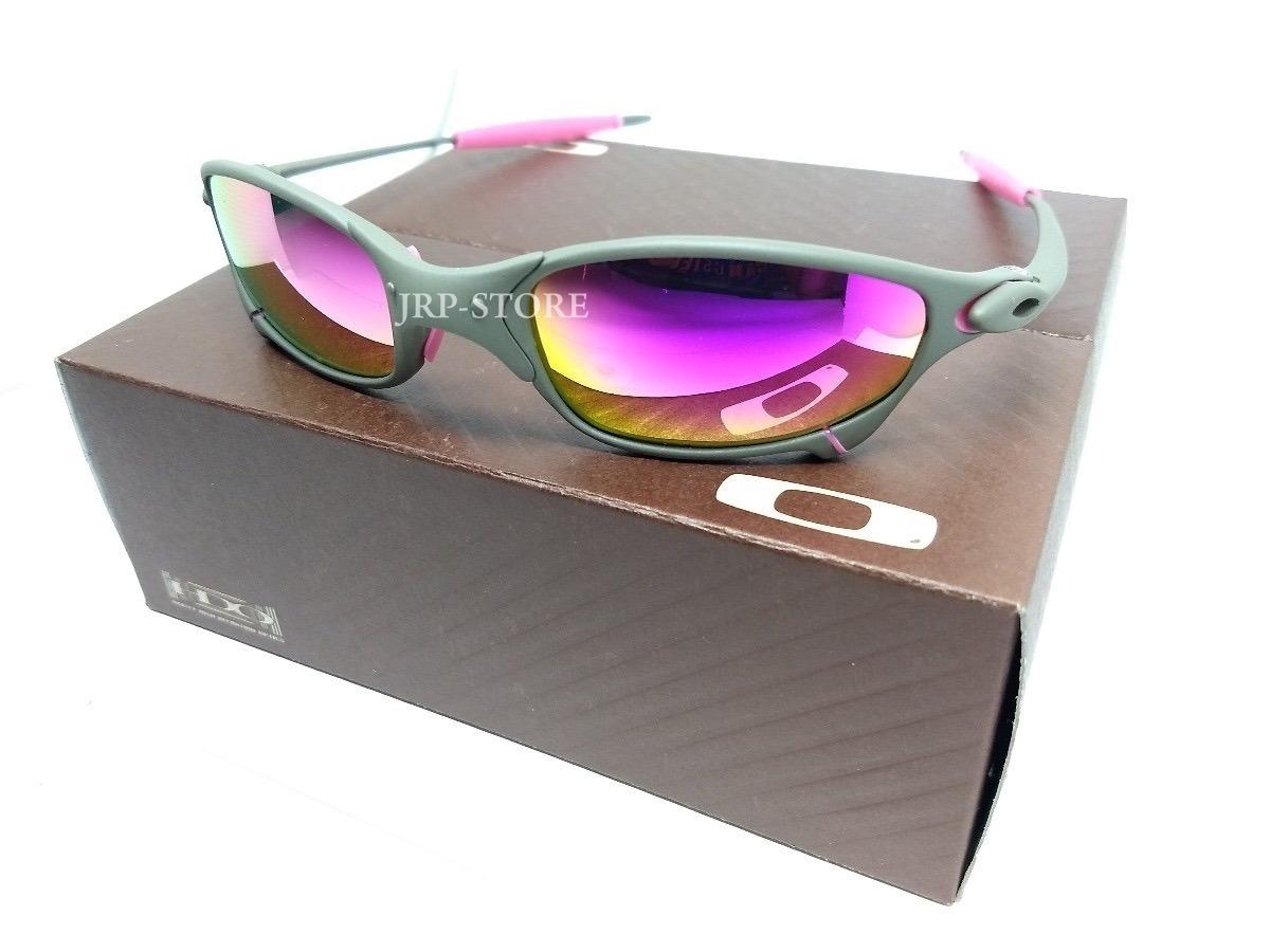 8f857661fc78a oculos juliet x metal lente rosa pink e borrachas rosas. Carregando zoom.